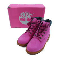 "TIMBERLAND::6"" PREMIUM BOOTS GS PINK GUM:24.5[RESALE]"