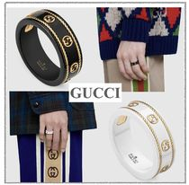 [GUCCI]*Icon ring with yellow gold*インターロッキングGリング