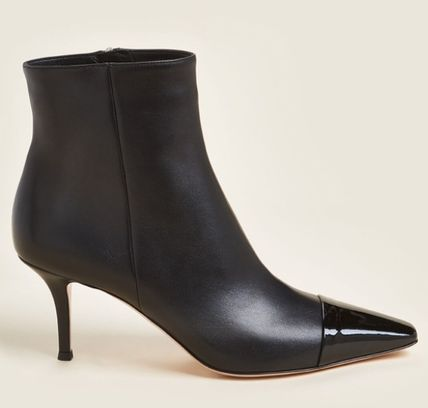 Gianvito Rossi ショートブーツ・ブーティ 関税・送込 GIANVITO ROSSI☆Black Lucy Leather Ankle Booties(2)