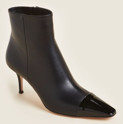 Gianvito Rossi ショートブーツ・ブーティ 関税・送込 GIANVITO ROSSI☆Black Lucy Leather Ankle Booties(3)