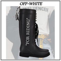 2020AW【Off-White】'For Riding' Wellington Boots