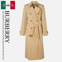 BURBERRY THE WATERLOOCOTTON LONG DOUBLE BREASTED TRENCHCOAT