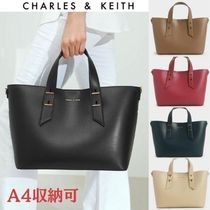 【Charles&Keith】トート ポーチ付/ Double Handle Slouchy Bag