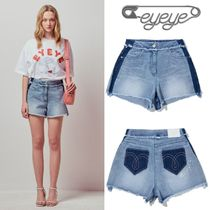 NiziUマコ着用★DECOLORATION FRINGING DENIM SHORTS/EYEYE