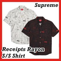 Supreme Receipts Rayon S/S Shirt AW FW 20 WEEK 2