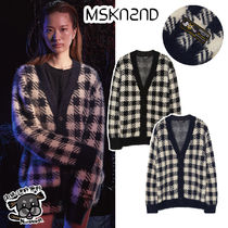 【MSKN2ND】CHECK EYELASH YARN CARDIGAN 2色