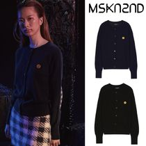 【MSKN2ND】SM:]E PATCH CASHMERE CARDIGAN 2色
