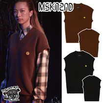 【MSKN2ND】SM:]E PATCH CASHMERE VEST 2色