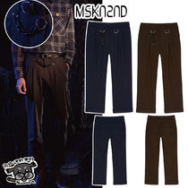 【MSKN2ND】SLIM BROKEN CHAIN PANTS BROWN/NAVY