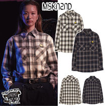 【MSKN2ND】OMBRE CHECK SM:]E SHIRT IVORY/NAVY CHECK
