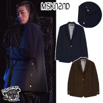 【MSKN2ND】NOIR SIDE PLACKET BLAZER BROWN/NAVY