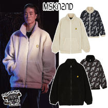 【MSKN2ND】SM:]E PATCH FLEECE ZIP UP REVERSIBLE JACKET