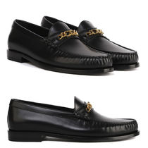 CELINE LUCO LOAFERS IN POLISHED CALFSKIN TRIOMPHE SIGNATURE