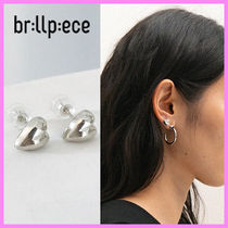 【brillpiece】Tiny love earring (silver)〜タイニーラブピアス