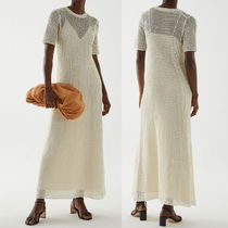 """""""COS"""" KNITTED PAPER DRESS WHITE"""