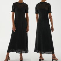 """""""COS"""" KNITTED PAPER DRESS DARKGRAY"""