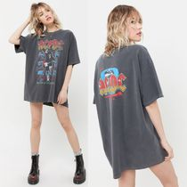 Urban Outfitters(アーバンアウトフィッターズ) Tシャツ・カットソー 限定*URBAN OUTFITTERS*AC/DC オーバーサイズ バンド Tシャツ