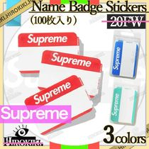 20FW /Supreme Name Badge Stickers ネーム バッジ ステッカー