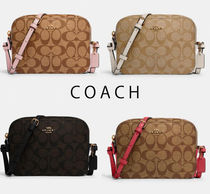 COACH★Mini Camera Bag Canvas ショルダーバッグ91677