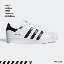 人気話題!adidas x Prada Superstar White Black