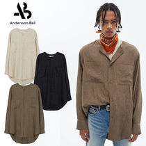 ◇Andersson Bell◆COLLARLESS WRINKLE SHIRTS