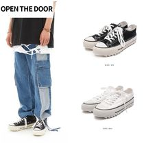 日本未入荷★OPEN THE DOOR★add platform low canvas shoes 2cl