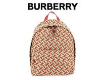 BURBERRY TB モノグラム プリント バックパック#8016107