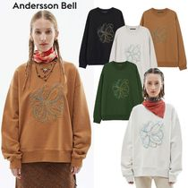 ★ANDERSSON BELL★韓国 UNISEX FLEUR EMBROIDERY SWEATSHIRT