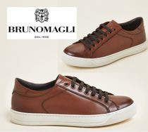 Bruno Magli(ブルーノマリ) スニーカー 関税・送込 BRUNO MAGLI☆Brown Westy Leather Low-Top Sneakers