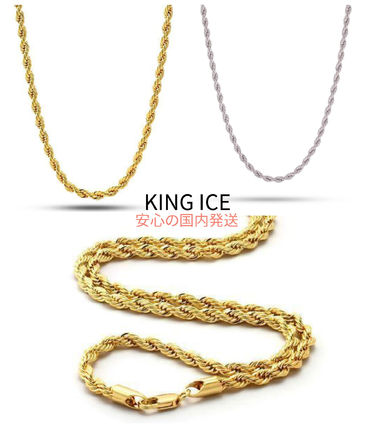 [KING ICE]国内発送大人気4mm14K Gold Stainless Steel Rope2色