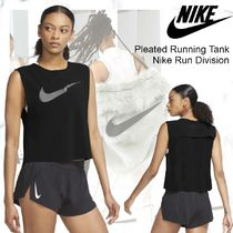 NEW!【Nike】 Pleated Running Tank Nike Run Division-Black