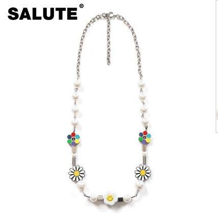 【SALUTE】FLOWER ANARCHY PEARL CHARMS NECKLACE ネックレス