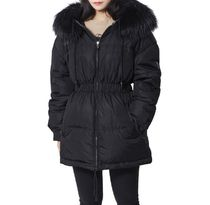 PRADA★fox fur hood down jacket black【関税込EMS謝恩品】