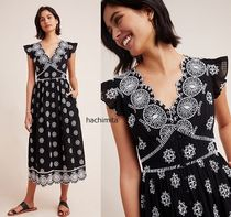 セール☆Ranna Gill Tomine Embroidered Eyelet Midi Dress