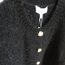 """""""& Other Stories"""" Boucle Knit Cropped Cardigan Black"""
