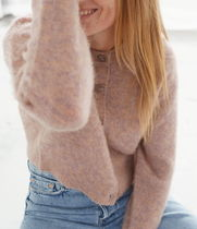 """""""& Other Stories"""" Fuzzy Button Up Cardigan Pink"""