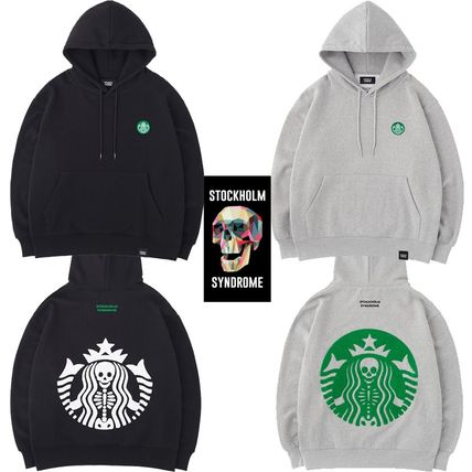 ★STOCKHOLM SYNDROME★SKULL BOUCLE HOODED SWEATSHIRTS 2色