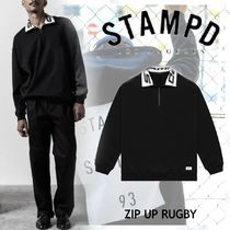 NEW!ロサンゼルス発【STAMPD】ZIP UP RUGBY-BLACK