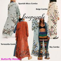 :: Free People :: バタフライ柄 ロングガウン Butterfly Kisses
