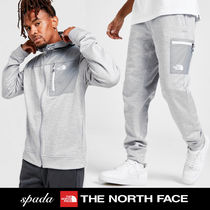SALE【NORTH FACE】ロゴ カーゴ セットアップ グレー / 送料無料