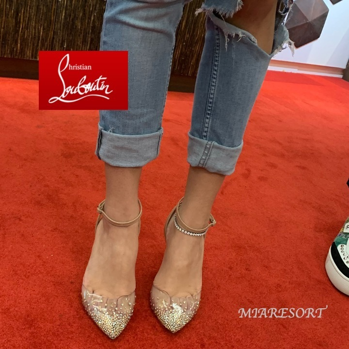 20AW 新作 ☆ ルブタン ☆ Spikaqueen 100mm PVC ☆ パンプス (Christian Louboutin/パンプス) 3200572PK5S