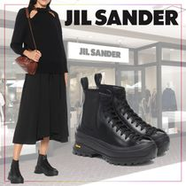 【JIL SANDER】Lace-up leather ankle boots 489847