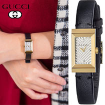 特別価格!Gucci Women's Gフレーム Black Leather YA147506