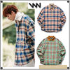 WV PROJECTのMocca balloon check Shirts 全2色