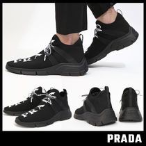 【PRADA】KNIT FABRIC SNEAKERS