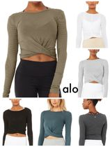 Alo yoga★ COVER LONG SLEEVE ギャザートップス