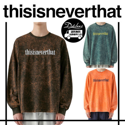 thisisneverthat Tシャツ・カットソー thisisneverthat Acid Washed L/SL Top YJ303 追跡付