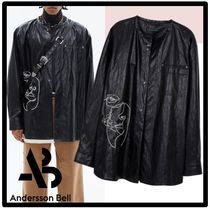 ★ANDERSSONBELL★FAUX LEATHER EMBROIDERY SHIRTS★シャツ★