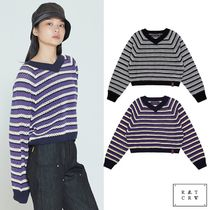 ROMANTIC CROWN★WOMANS V NECK KNITWEAR 2色