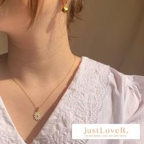 【justLoveR.】Jeanne Daisy necklace (gold/silver)